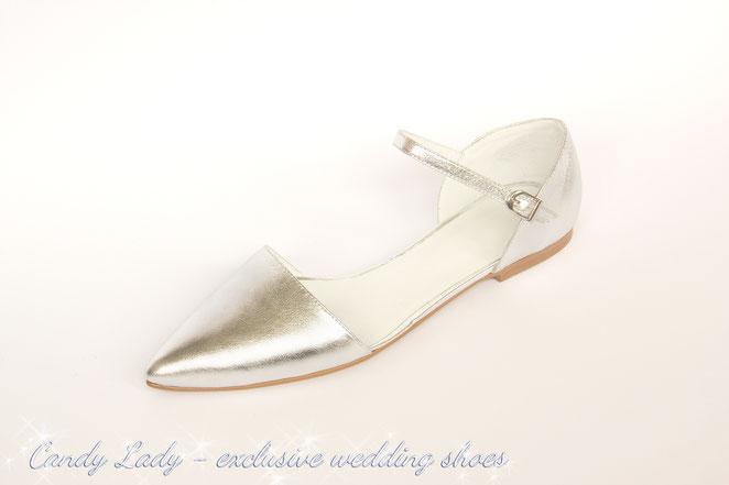 свадебные туфли балетки серебро Candy Lady Киев Москва Сочи Питер Днепропетровск