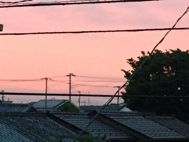 マツエ時計店から見えた夕焼け