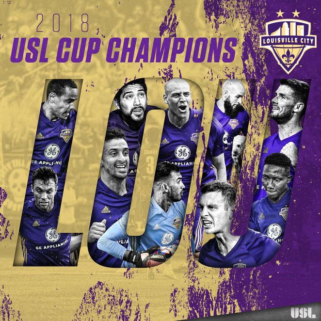 LOUSVILLE CITY FC USL CUP CHAMPIONS 2018