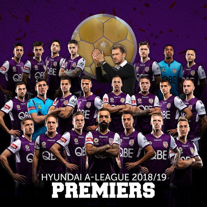 Perth Glory A-League 2018 - 2019 Premiers