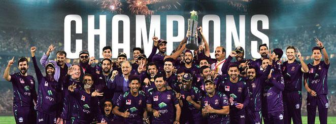 HBL Pakistan Super League Champions 2019