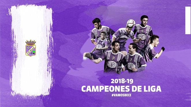!!! CAMPEONES DE LIGA 2018/19 !!!   El #Triplete . Campeones, Ascenso a Tercera y Copa del Rey