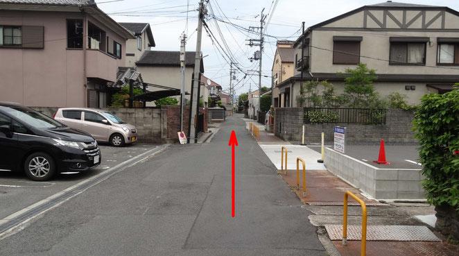 50メートルほどそのまま進みます。