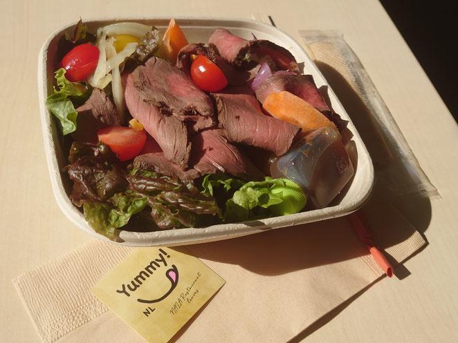 ミグランス 奈良食堂 テイクアウト ローストビーフサラダ