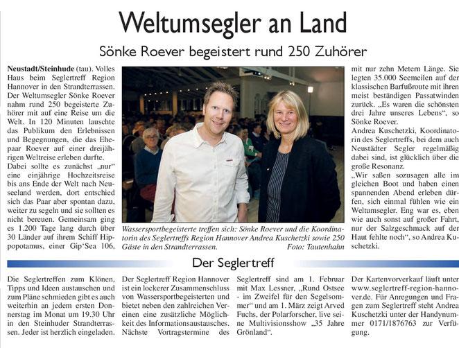 Neustädter Zeitung, 8. November 2017