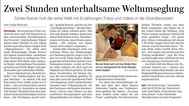 Hannoversche Allgemeine Zeitung, 6. November 2017