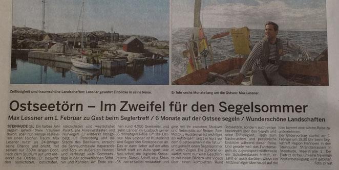 Wunstorfer Stadtanzeiger, 20./21. Januar 2018