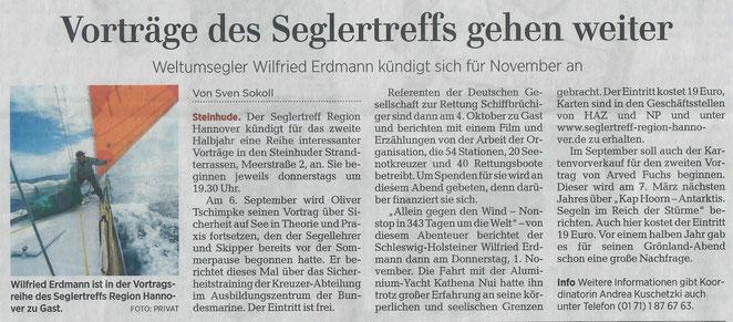 Hannoversche Allgemeine Zeitung, Lokalteil Wunstorf, 04.09.2018