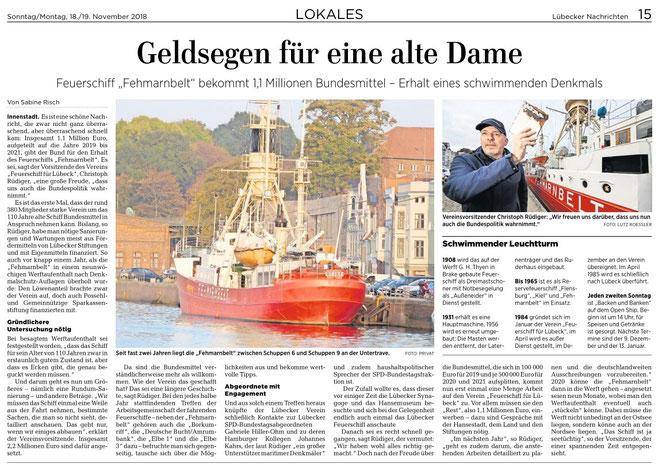 Lübecker Nachrichten, 18./19.11.2018
