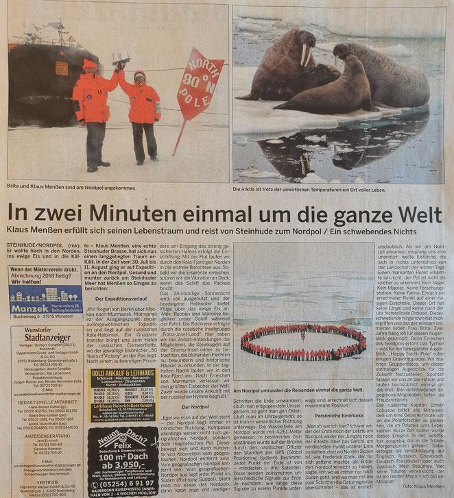 Wunstorfer Stadtanzeiger, November 2019