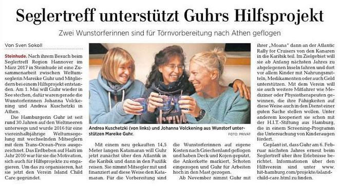 HAZ Lokalteil Wunstorf, 30.04.2019