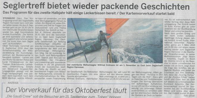 Wunstorfer Stadtanzeiger, 6.09.2018