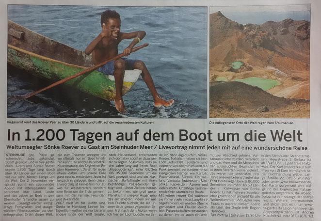 Wunstorfer Stadtanzeiger, 21./22. Oktober 2017