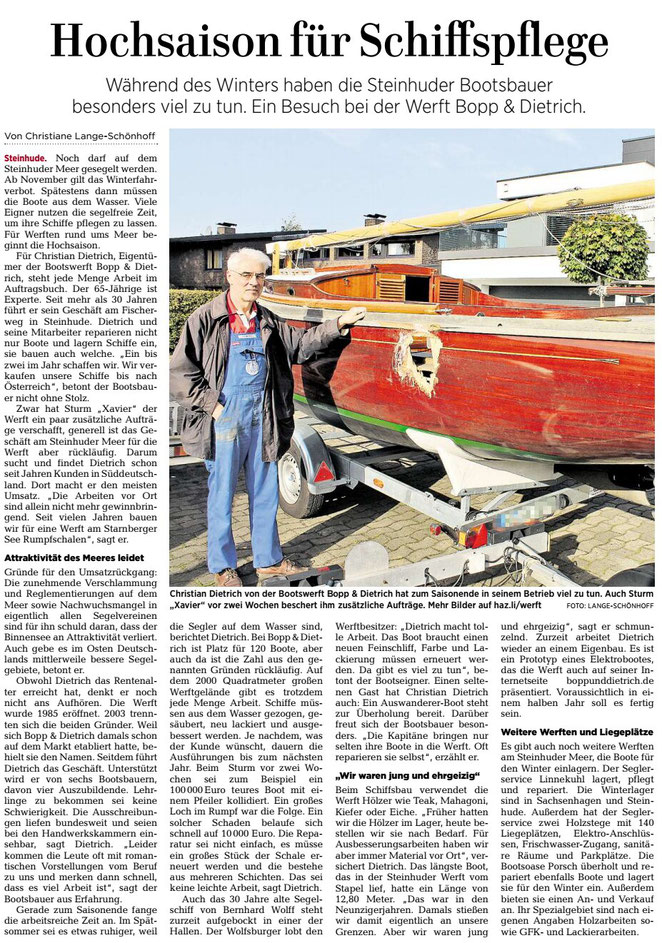 Hannoversche Allgemeine Zeitung, Wunstorfer Regionalteil, 23.10.2018