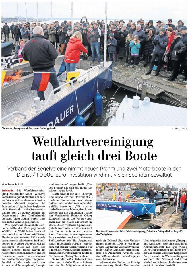 HAZ, Lokalteil Wunstorf, 04.04.2018
