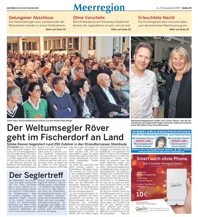 Wunstorfer Stadtanzeiger, 4.11.2017