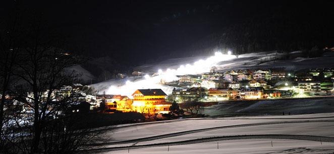 Nachtskilauf Panorama Skilift Terenten