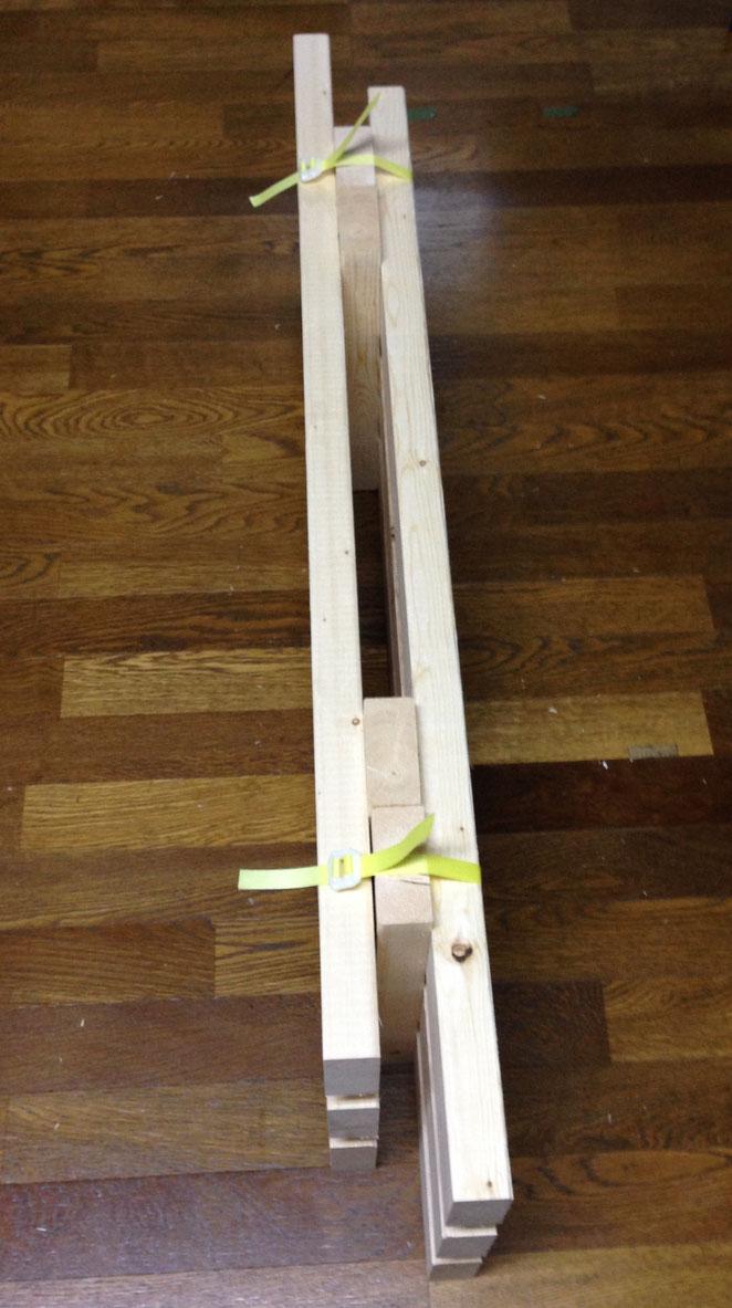 土のうステーション(カゴネット)用底敷木製スノコ 2分割式荷姿