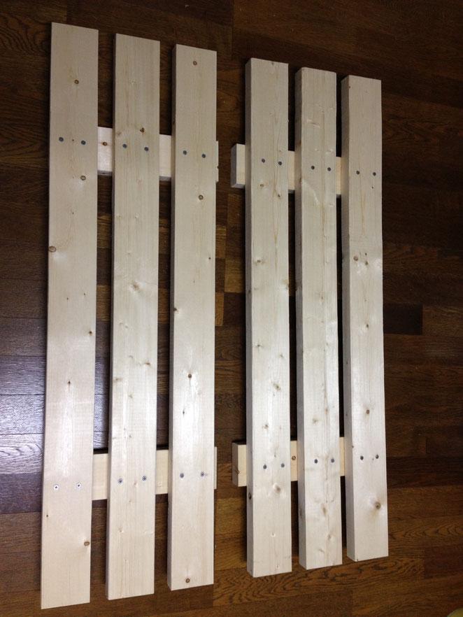 土のうステーション(カゴネット)用底敷木製スノコ