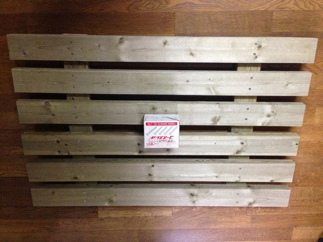 土のう用カゴネット(土のうステーション)用木製底敷スノコ