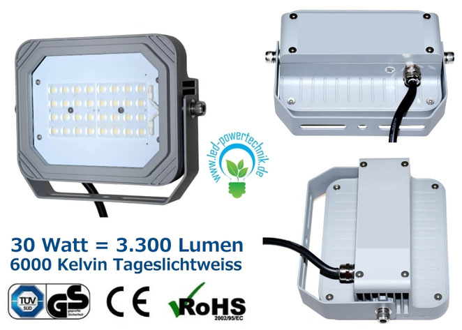LED Fluter Mit 30 Watt In Warmweiss 3000k Und In