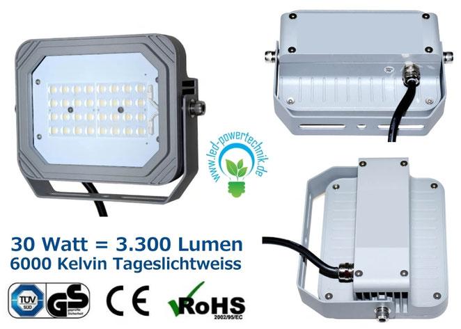 LED Fluter, Strahler, 100W, tageslichtweiss, silber, TüV