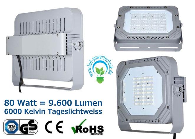 LED Fluter, Strahler, 60W, tageslichtweiss, silber, TüV