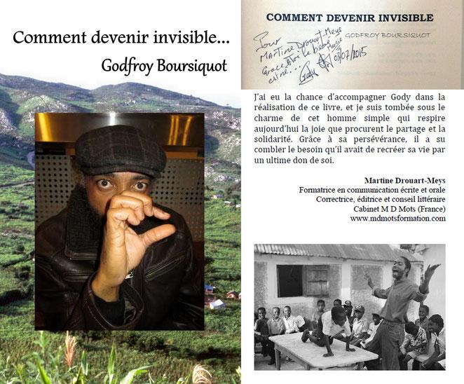 Godefroy est un Haïtien qui vit à Boston. Il est le fondateur d'une organisation qui s'appelle la CODEHA (Corde Enfants Haïtiens).