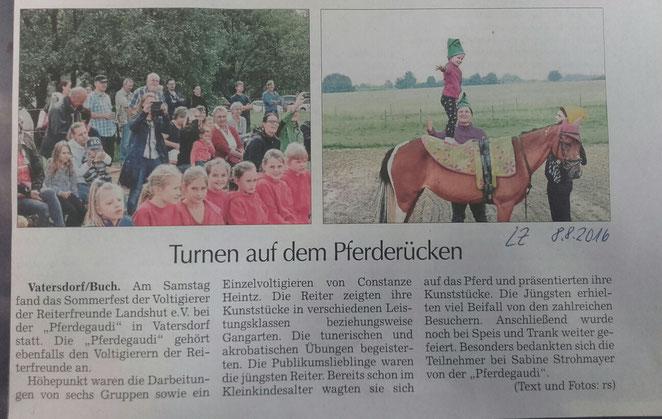 Landshuter Zeitung 08.08.2016