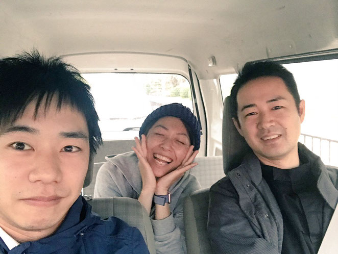 大阪訪問 車中にて