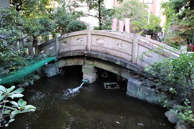 あじさい鍼灸マッサージ治療院 江島杉山神社の石橋