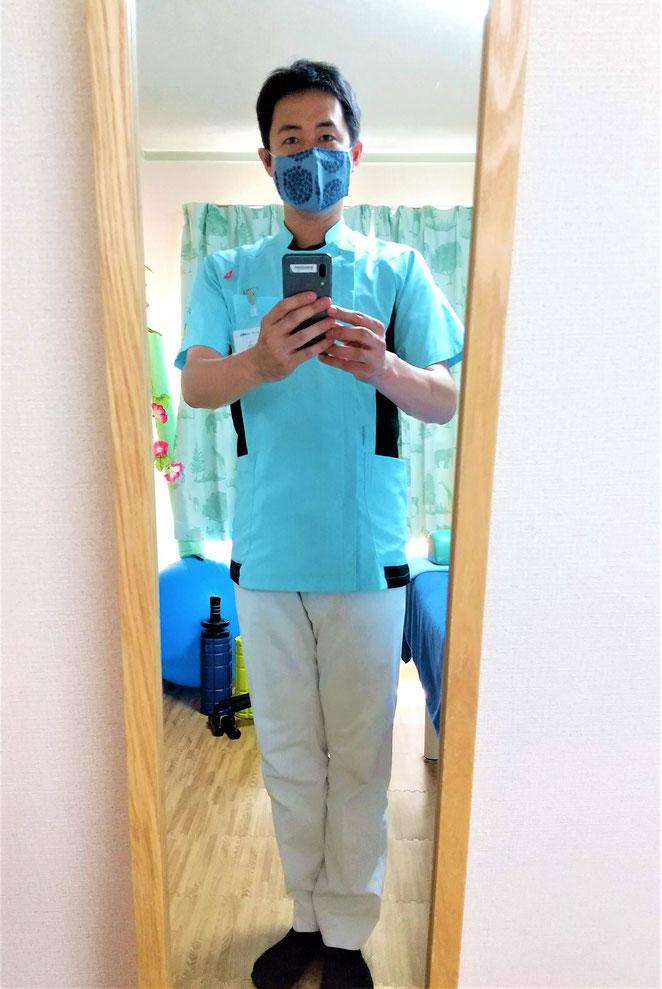 あじさい鍼灸マッサージ治療院 マスクをした姿