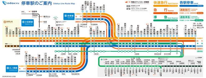 小田急線路線図 小田急ホームページより