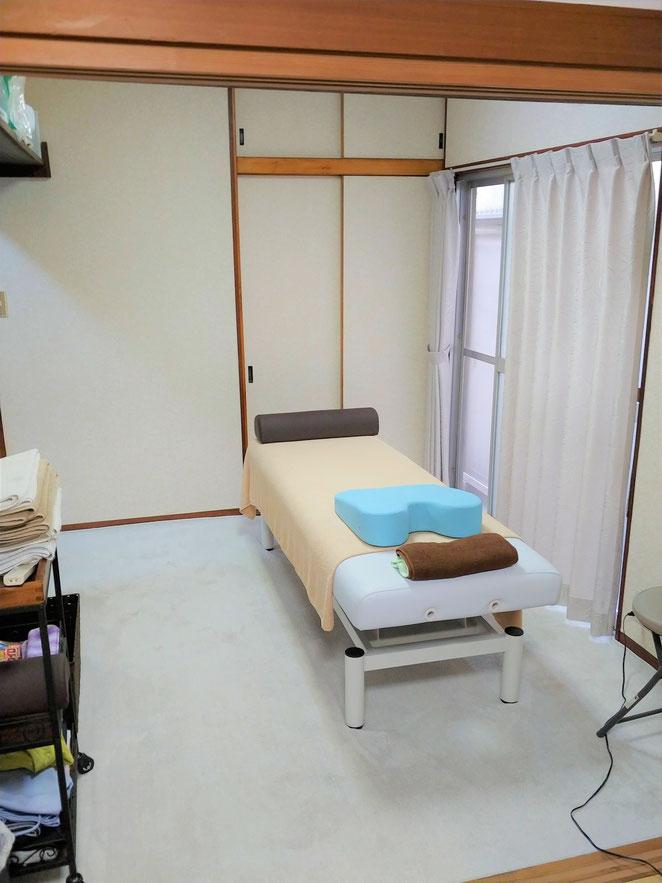 あじさい鍼灸マッサージ治療院 ミズノ接骨院施術室