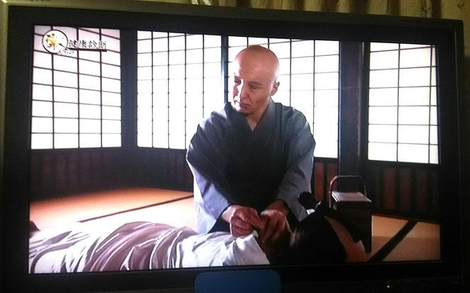 2018年にBSで放送された徳川綱吉の特集番組より。杉山和一の再現ドラマ。