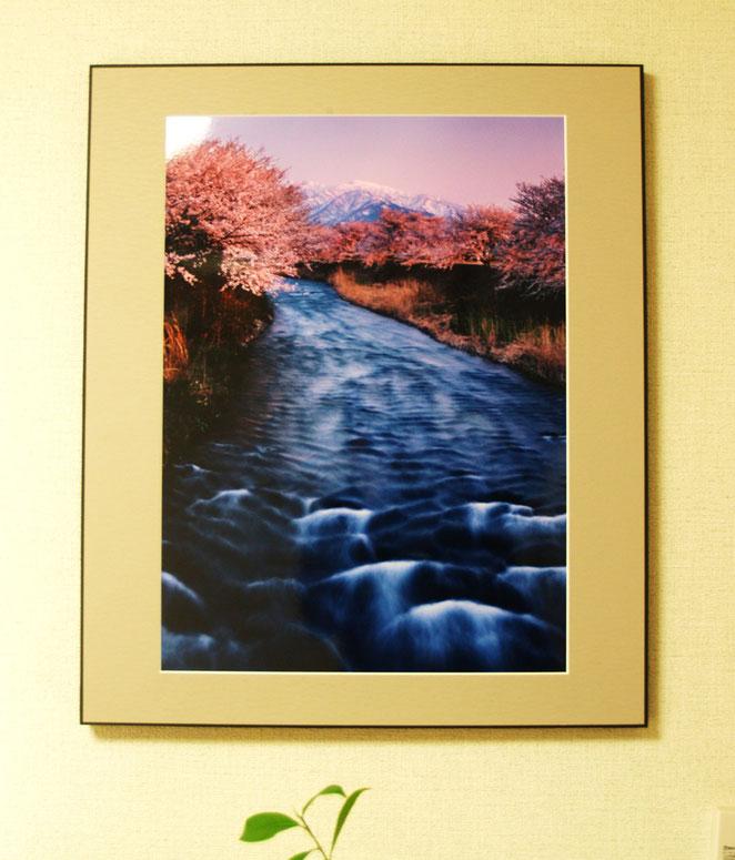 待合室に飾った写真。