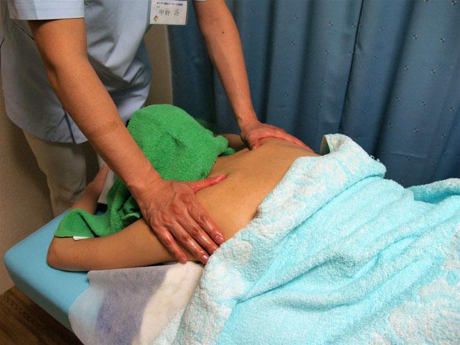 あじさい鍼灸マッサージ治療院 肩のオイルマッサージ