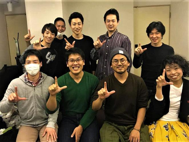 松永光将先生を中心にした技術交流会集合写真