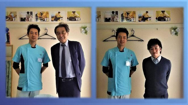 あじさい鍼灸マッサージ治療院 日進医療器株式会社(ユニコ)のお二人と