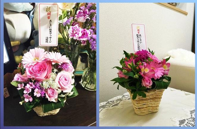 あじさい鍼灸マッサージ治療院 開業時に頂いたお花