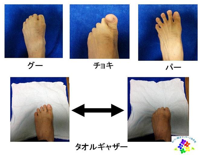 あじさい鍼灸マッサージ治療院 足指運動の紹介