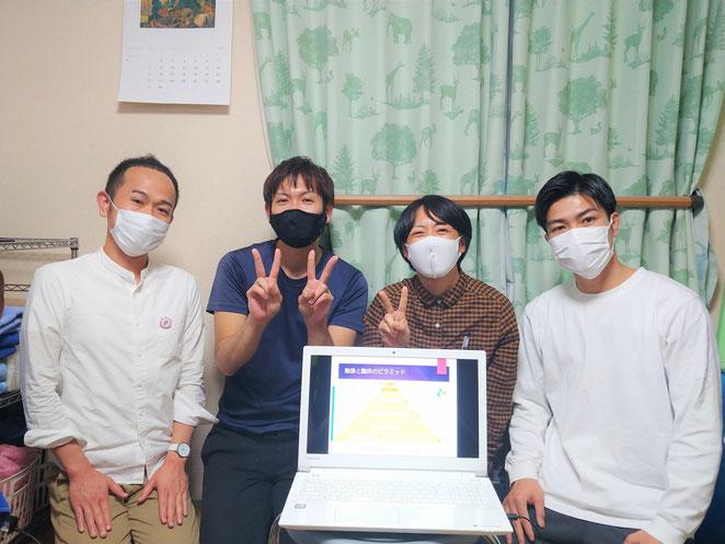 あじさい鍼灸マッサージ治療院 関西から来た学生さん達