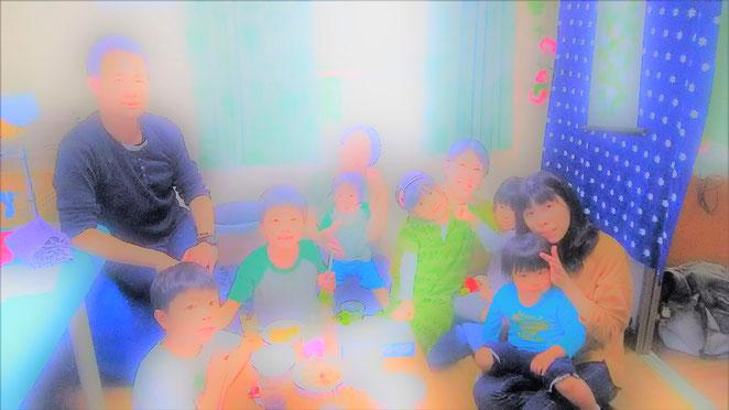 あじさい鍼灸マッサージ治療院 チャリティカフェに集まった子供たち