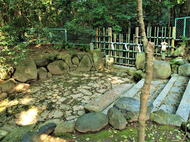 あじさい鍼灸マッサージ治療院 木嶋神社境内の枯池