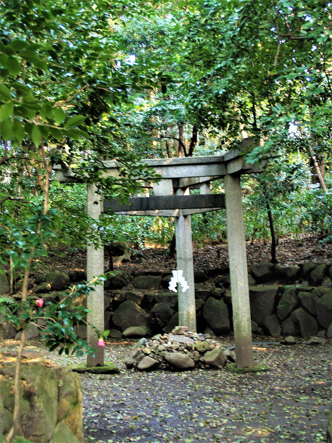 あじさい鍼灸マッサージ治療院 木嶋神社境内の三柱鳥居