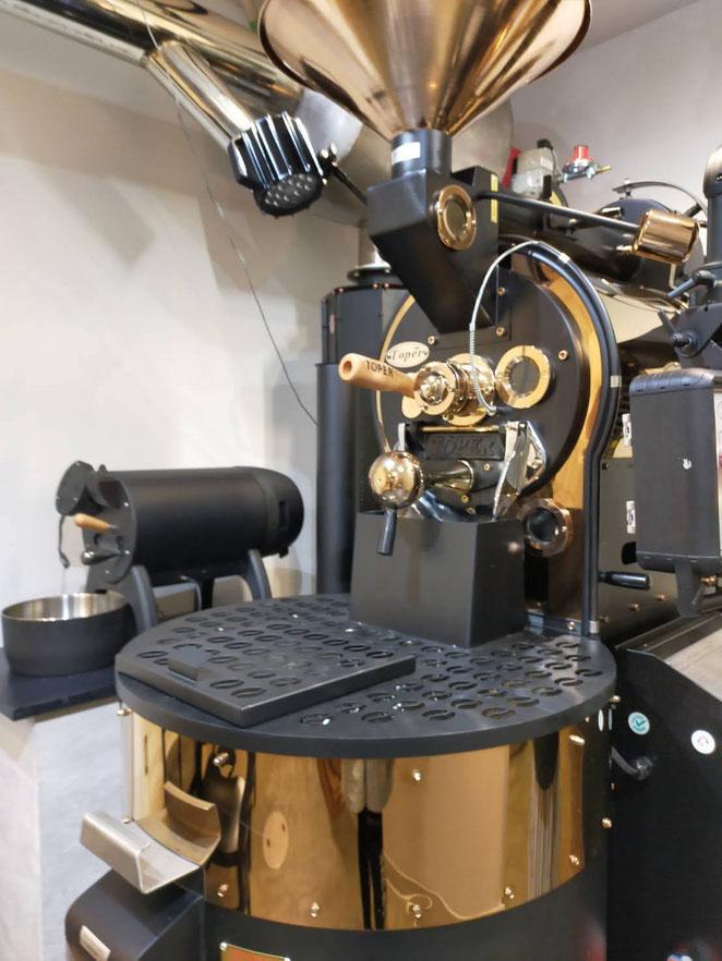 あじさい鍼灸マッサージ治療院 アウンコーヒーの焙煎機