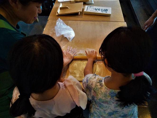 あじさい鍼灸マッサージ治療院 蕎麦を伸ばす