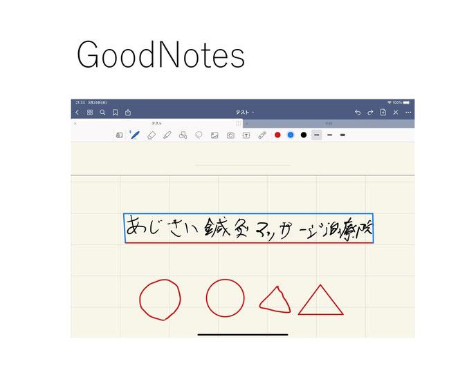 あじさい鍼灸マッサージ治療院 GoodNotes