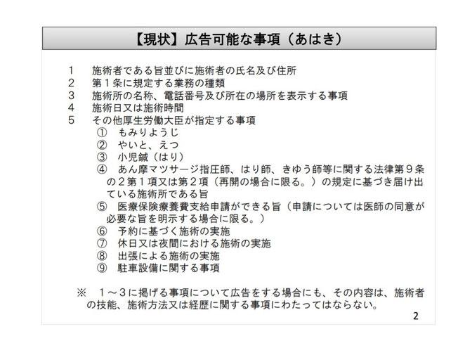 厚生労働省ホームページ 広告検討委員会資料より
