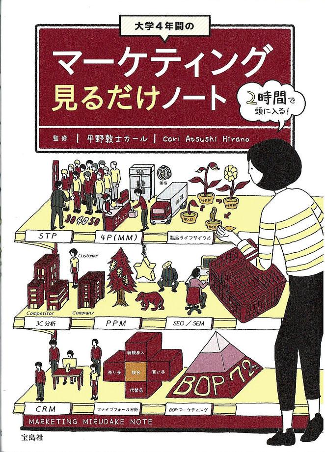 マーケティング見るだけノート 平野敦士カール監修 宝島社